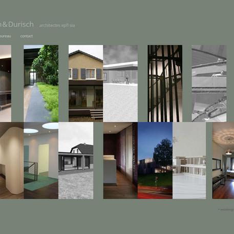 Site internet Durisch architectes