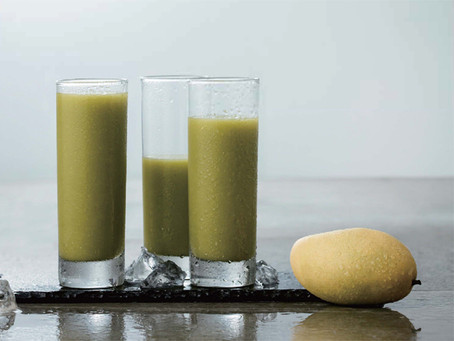 芒果綠色果汁