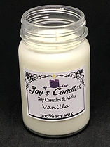 image of a 16oz 100% soy wax candle