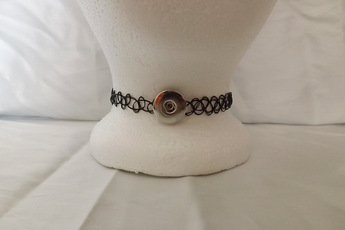 Black Choker snap necklace