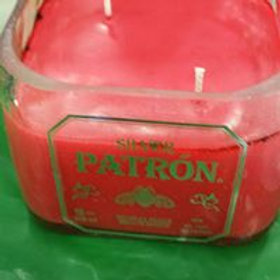 Patron Liquor bottle candle