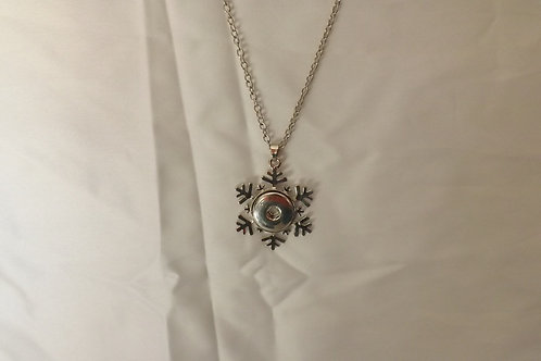 Snowflake 18mm snap necklace