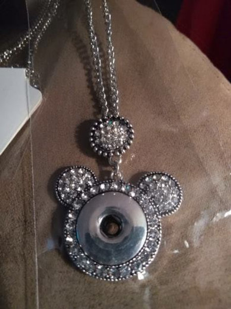 Mickey mouse Snap Necklace