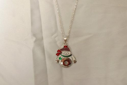 Snowman 18mm snap necklace