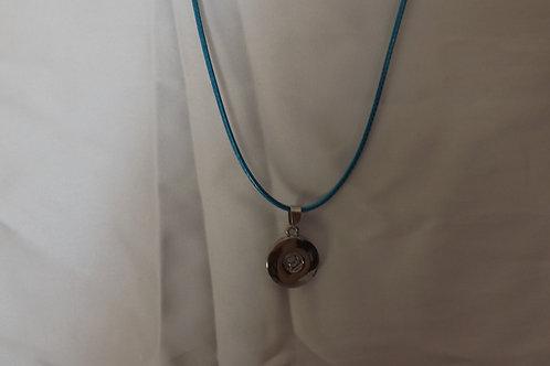 Dark Blue cord 18mm snap necklace