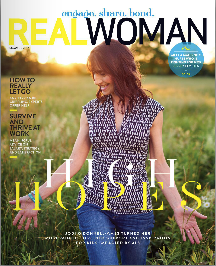 HLC Founder, Jodi O'Donnell-Ames, on cover of Real Woman Magazine