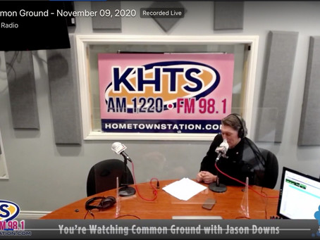 "Check Out My Recent Interview on ""Common Ground With Jason Downs"""