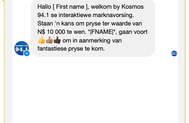 V5 Digital stel Namibië se eerste Bot in  Afrikaans bekend, gereed vir gebruik deur besighede.
