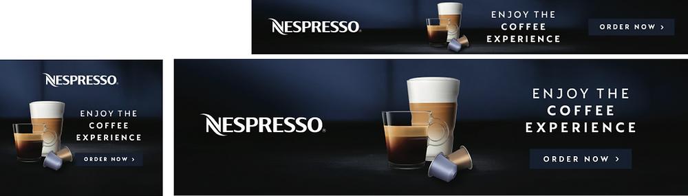 Horizontal Ad Formats for Nespresso by V5 Digital
