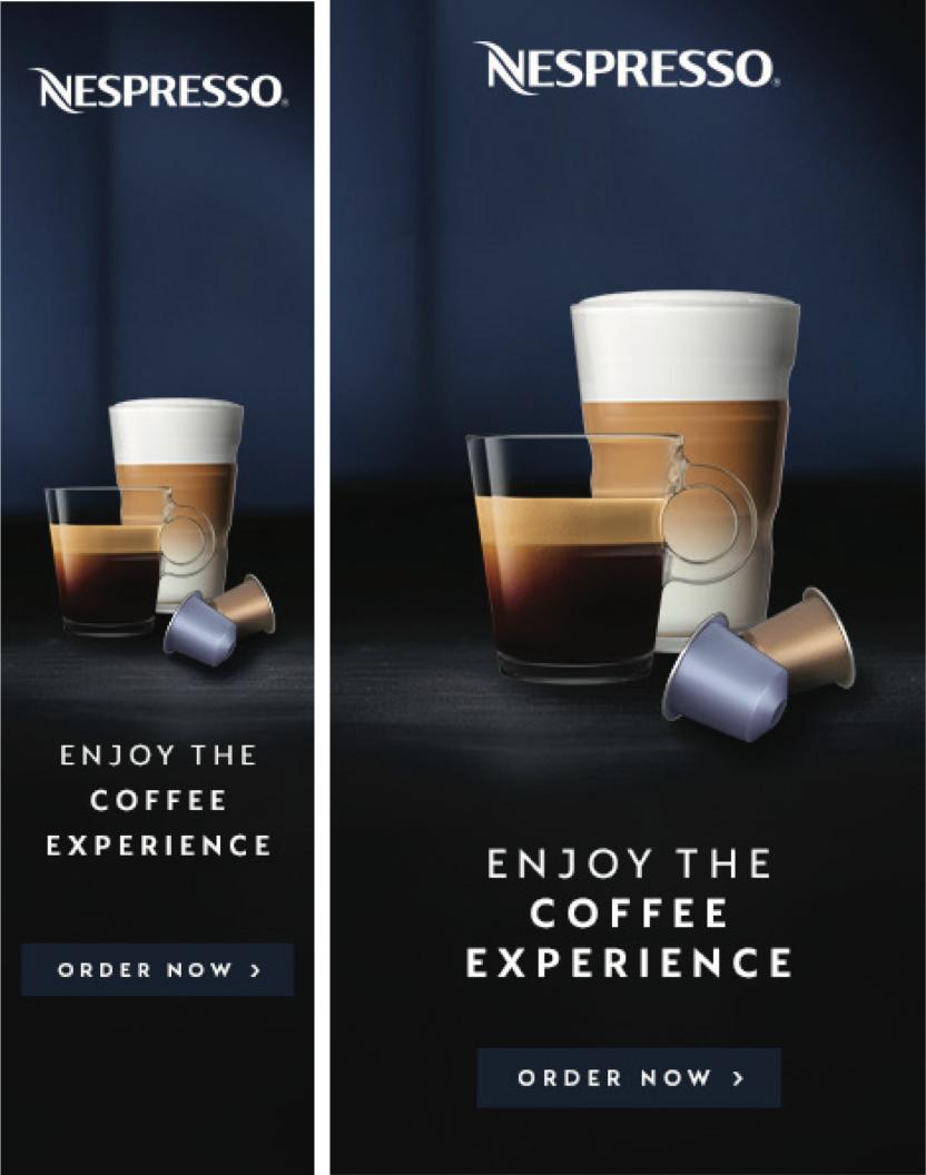 Portrait  Ad Formats for Nespresso by V5 Digital