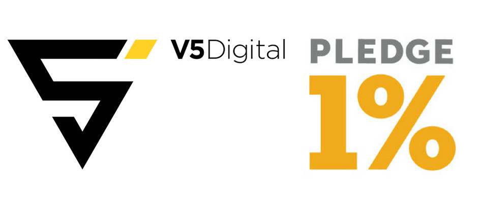 "V5 Digital joins Pledge 1% and creates a new model to ""pledge it forward"""