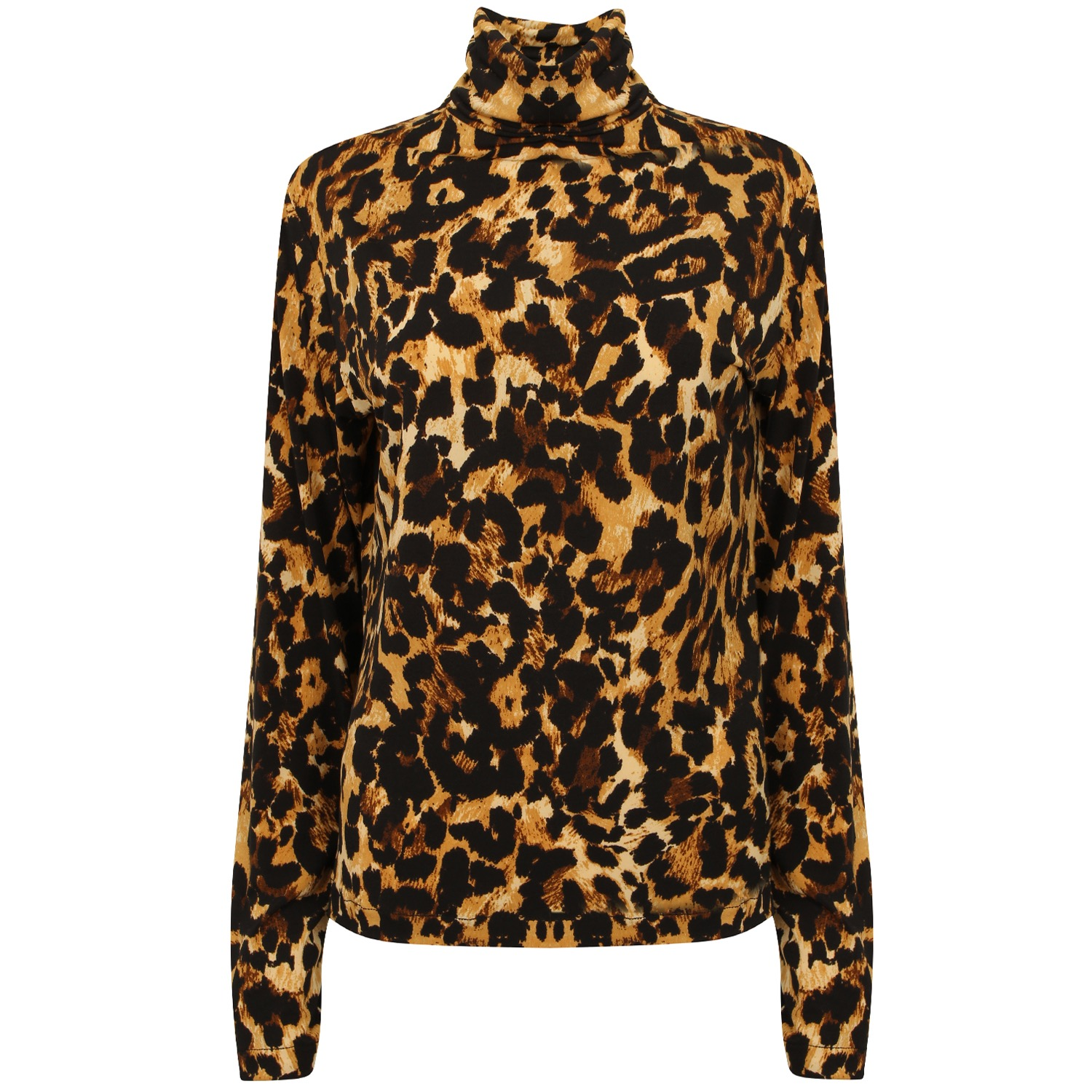 The Leopard Roll Neck