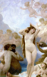 The Birth of Venus Painting by William-Adolpe Bouguereau
