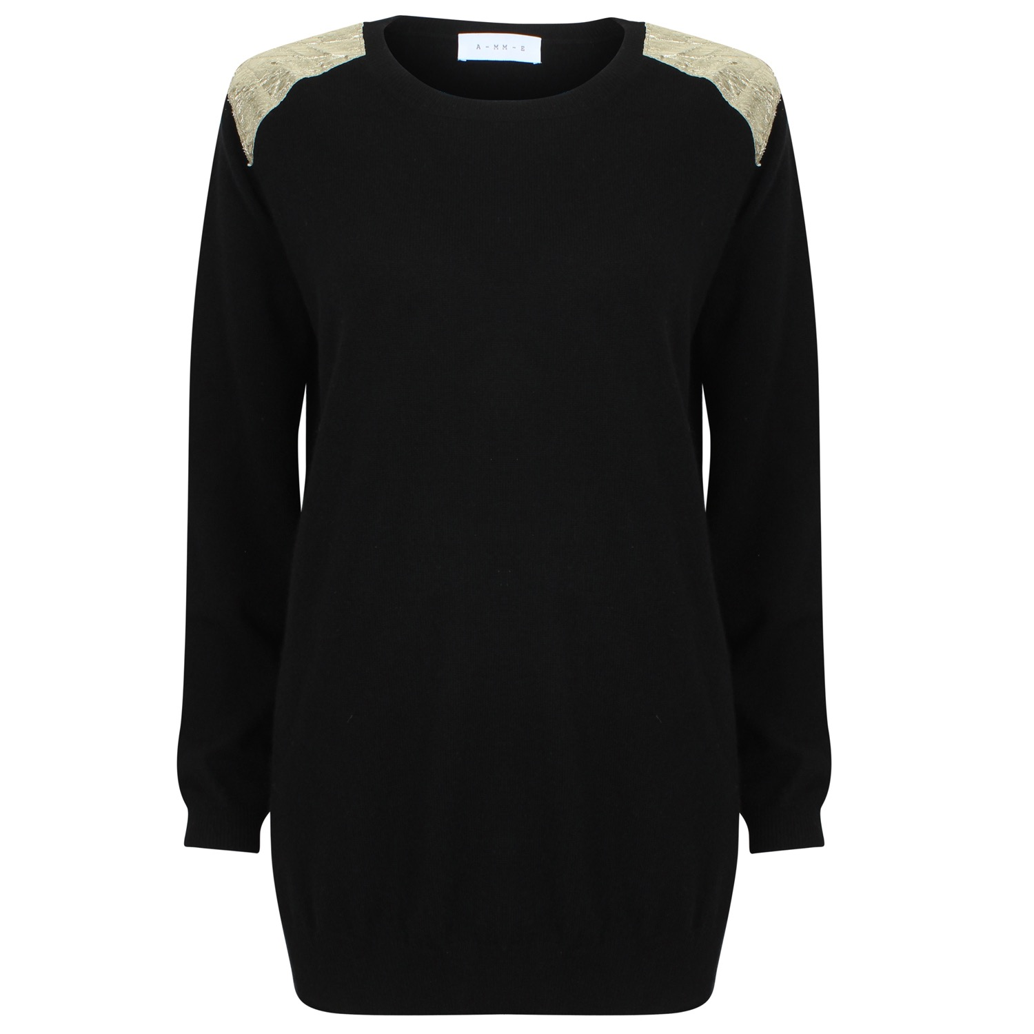 The Black & Gold Block Cashmere