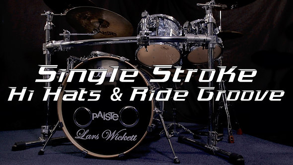 Single Stroke Hi hats & Ride Groove - Drum Lesson.
