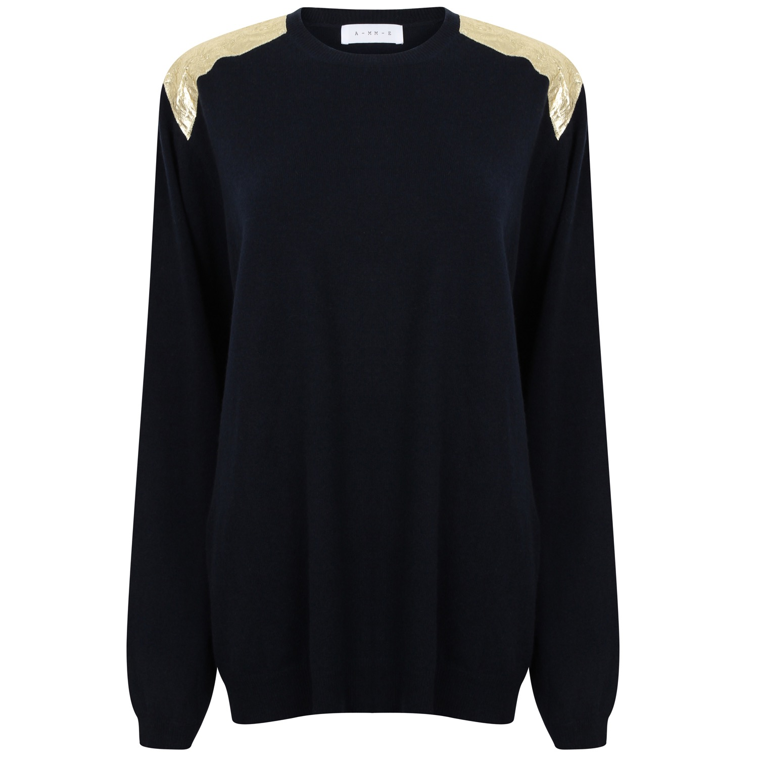 The Navy & Gold Oversize Cashmere