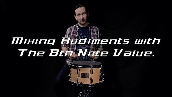 Mixing Rudiments with the 8th note value - Shifting Gears Drum Lesson.