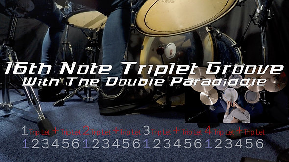 The 16th Note Triplet Drum Groove - Drum Lesson