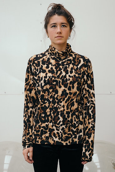 ROLL NECK IN LEOPARD