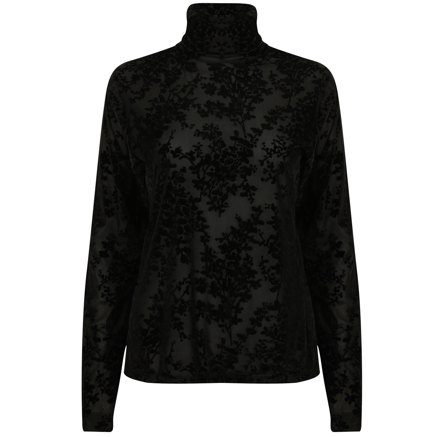 The Black Lace Roll Neck