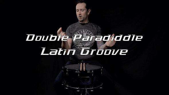 Double Paradiddle Latin Groove - Drum Lesson.
