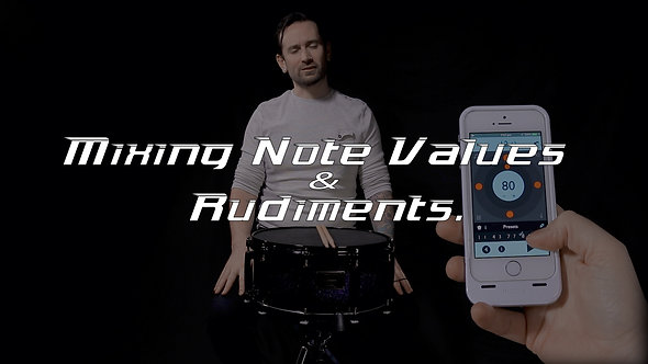 Mixing Note values with Rudiments - Shifting Gears Drum Lesson.
