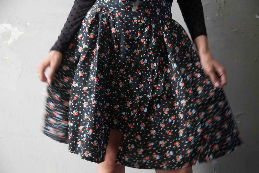 ITALIAN ROSE COTTON SKIRT