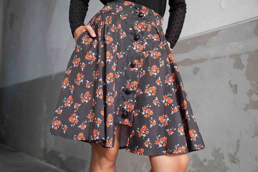 RIDING SKIRT: SICILIAN FLORAL