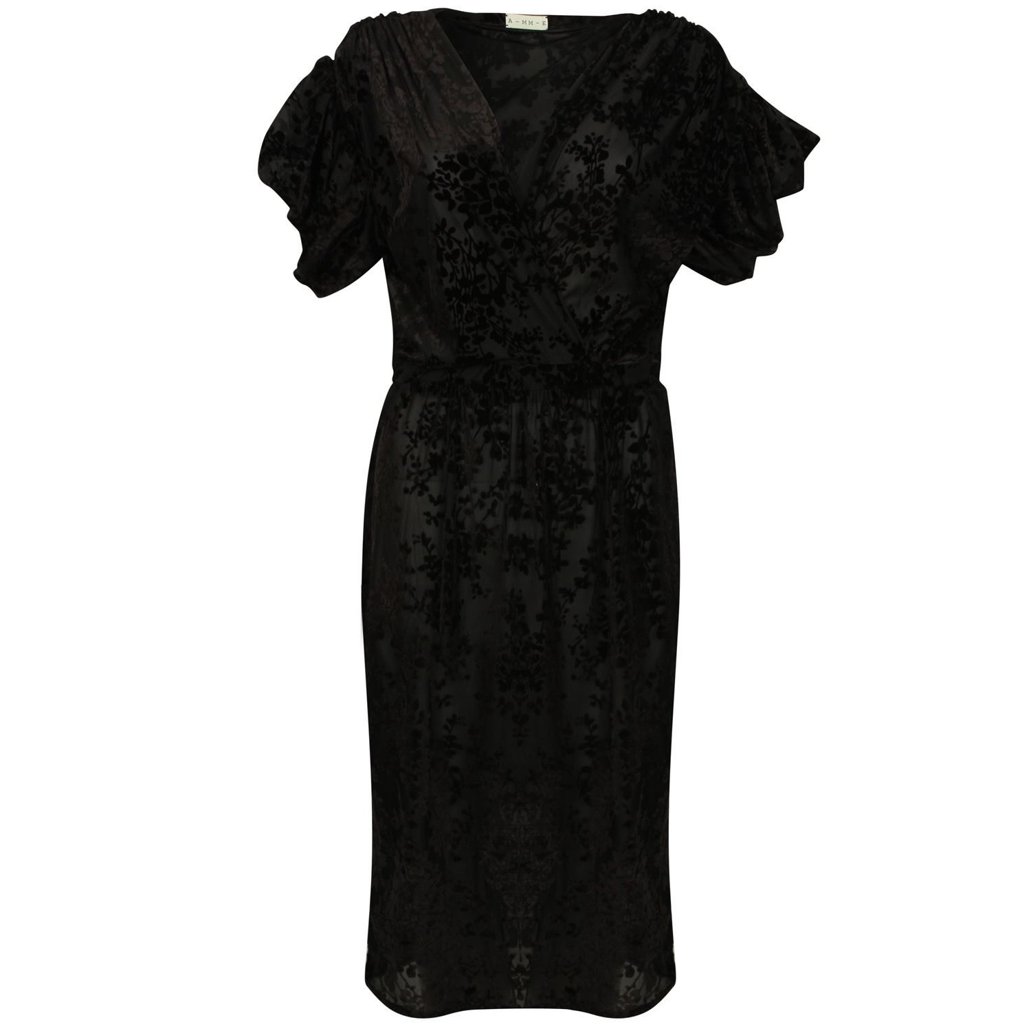 The Black Lace Wrap Dress