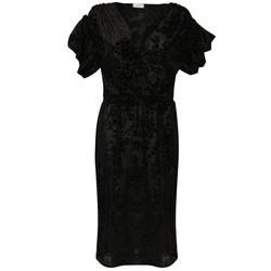 The Black Lace Wrap Dress