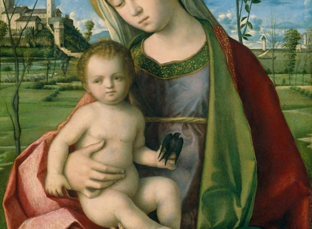 MADONNA AND CHILD by Giovanni Bellini 1510