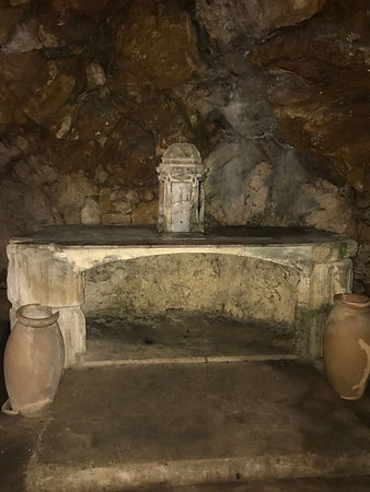Mary magdalene cave in st baume cave