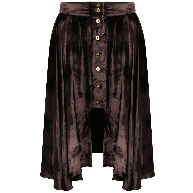 The Silk Velvet Riding Skirt