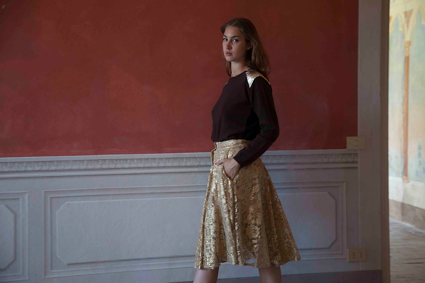 RIDING SKIRT : GOLD LACE