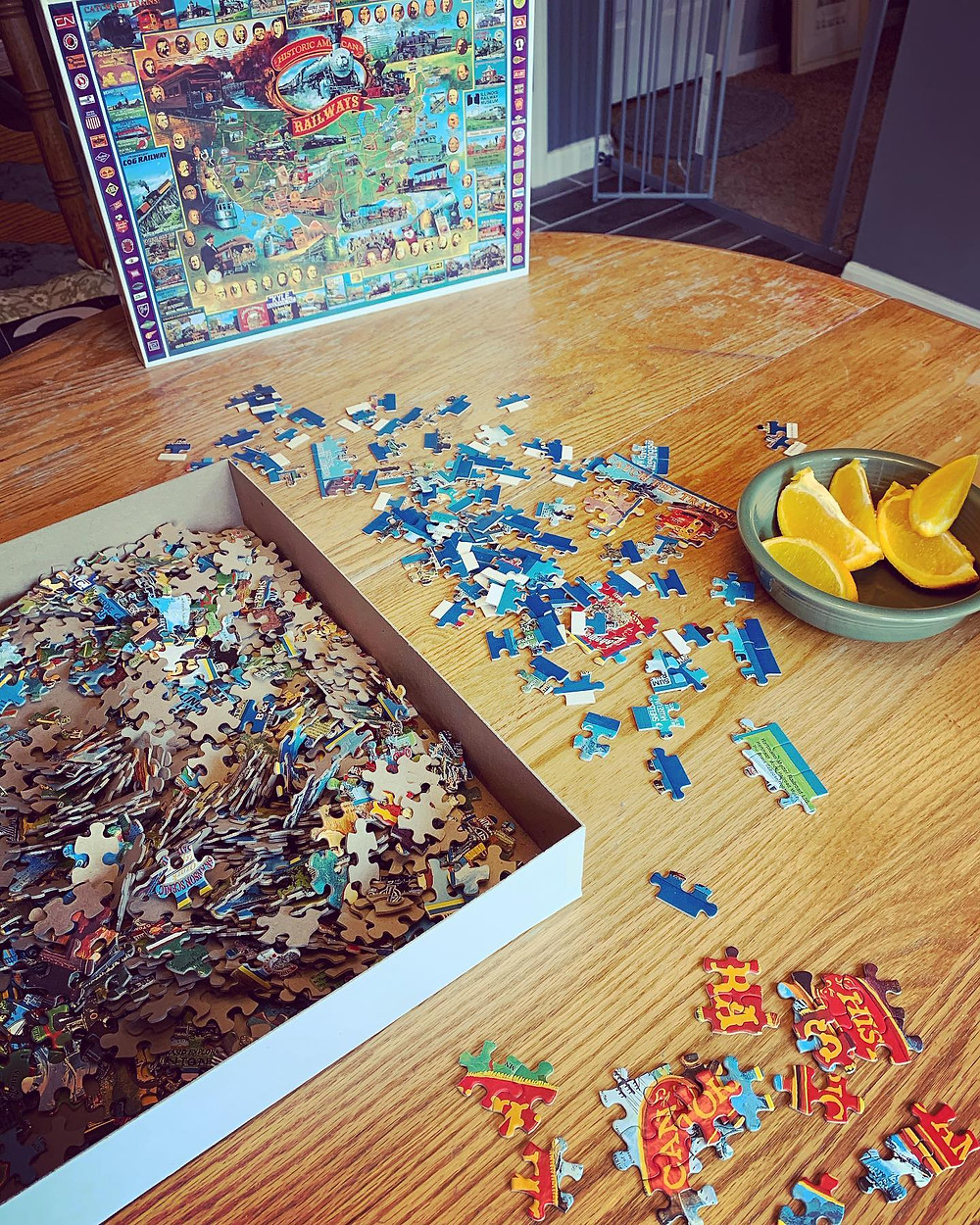 Puzzles, oranges, and worksheets! Oh my!