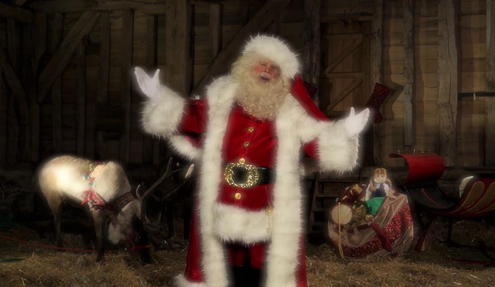 Santa Chris Nicholas with his reindeer