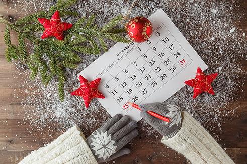 Mark the Date calendar for Christmas, De