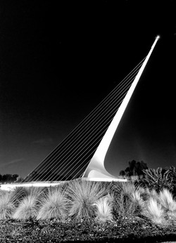 Sundial Bridge Night 5 BW