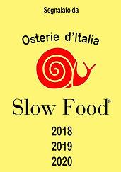 segnalato dalla guida Osterie d'Italia dello Slow Food