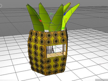 """""""Arco Piña"""" Diseño de escenario para Pineaple Pool Party"""
