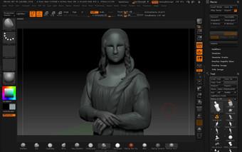 La Gioconda modelado 3D