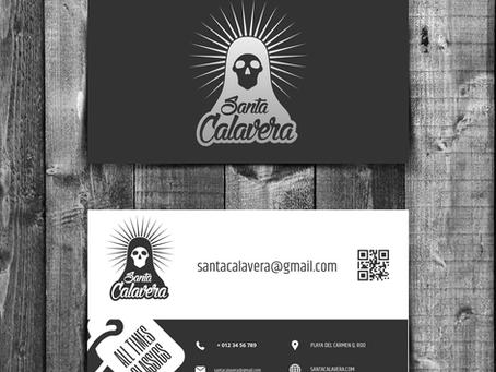 Santa Calavera | Logotipo + vectorización