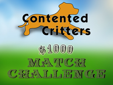$1000 Match Challenge is a Success!