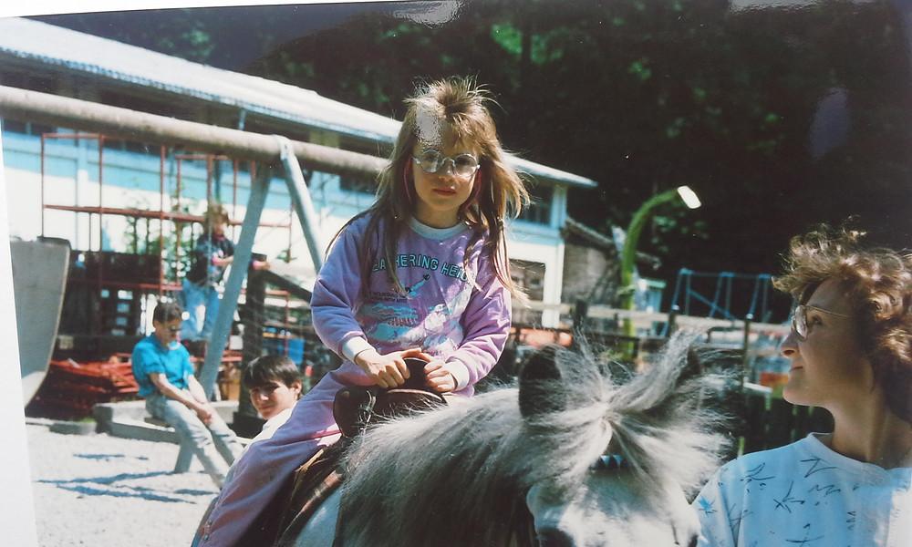 Meine Cousine Barbara und ich auf der Ponyranch