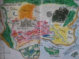 Die originale Landkarte von Elexandale