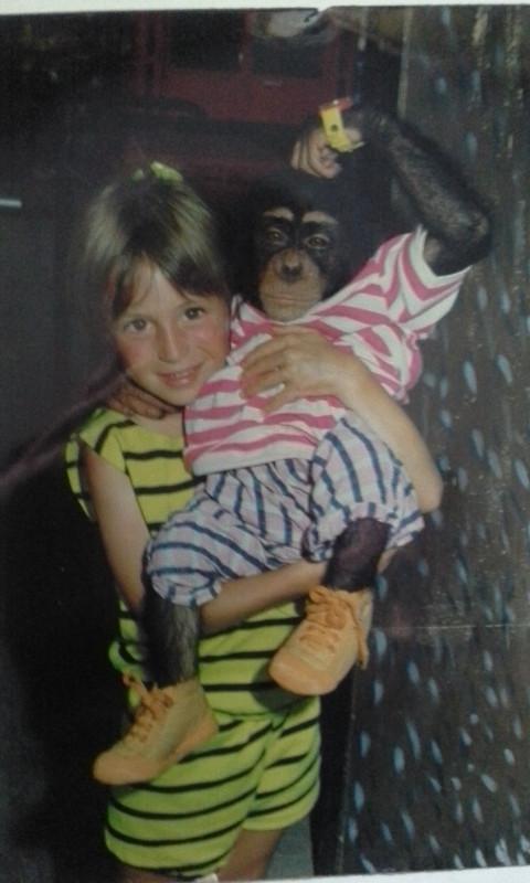 Ein Affe und ich in Grand Canaria