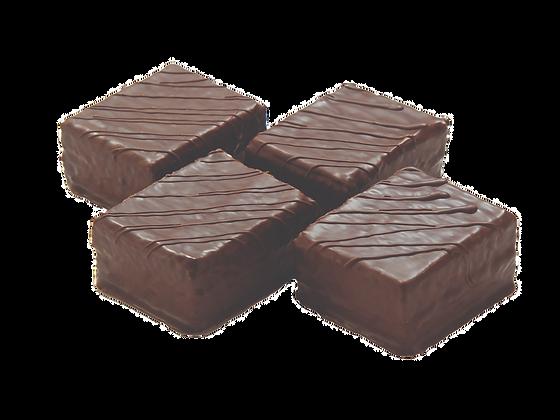 """Тістечко """"Медове з заврним кремом в шоколаді"""""""