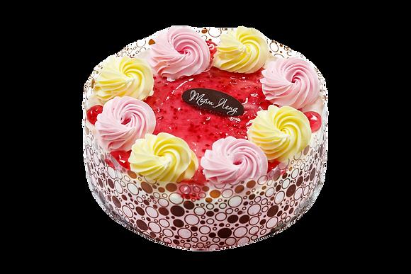 """Торт """"Творожно-малиновий"""""""