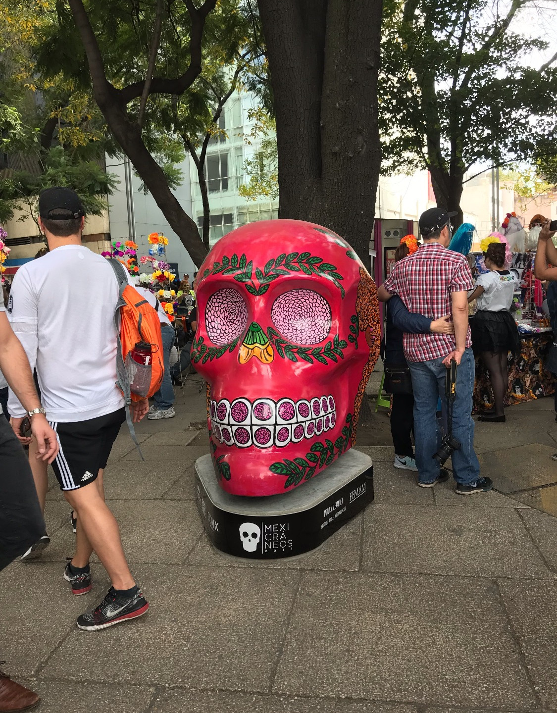 One of the many Catrina skulls everywhere in the Federal District.
