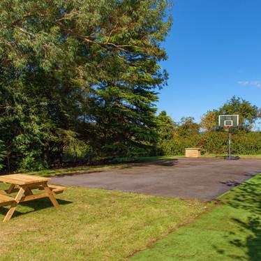 Hard court for basketball and netball